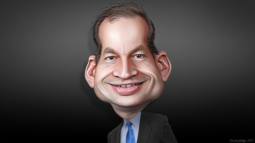 caricature of Alex Acosta
