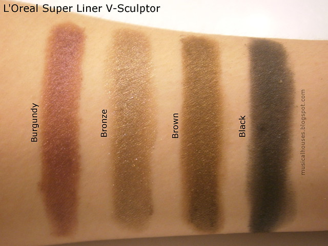 L'Oreal Super Liner V-Sculptor Swatches