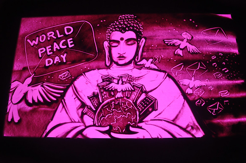 World Peace Day Sand Animation By Manas Kumar Sahoo at Puri