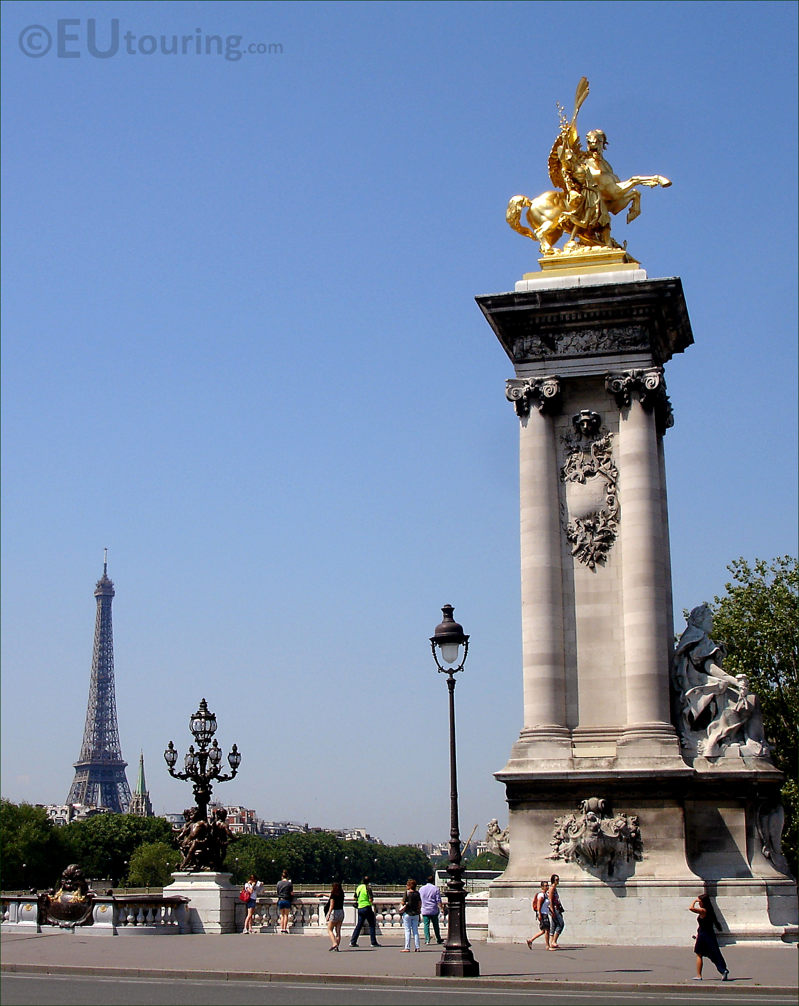 Eiffel from the Pont Alexandre III