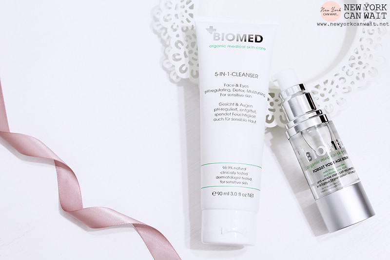 BIOMED: 5-in-1 Cleanser + Forget Your Age Serum.