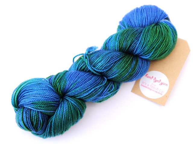Favourite Sock – hand-dyed superwash merino yarn 'Neptune's Lair'