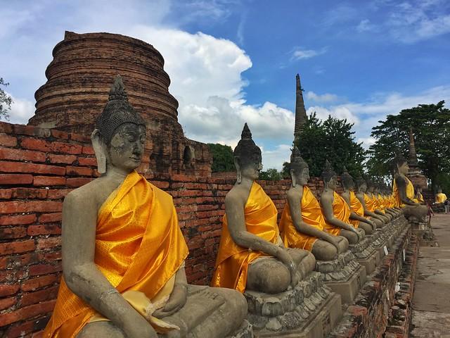 Budas en Ayutthaya (Tailandia)