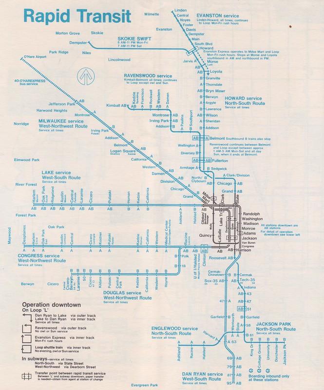 CTA 1972 Map