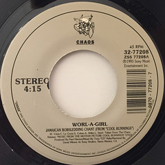 WORL-A-GIRL:JAMAICAN BOBSLEDDING CHANT(LABEL SIDE-A)