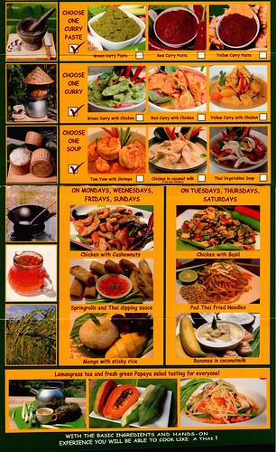 Brochure Thai Farm Cooking School Chiang Mai Thailand 3