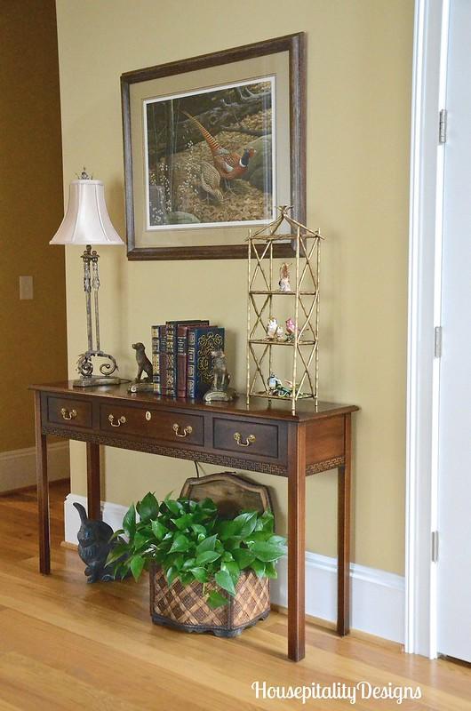 Sherri's hallway-Pheasant print-Housepitality Designs