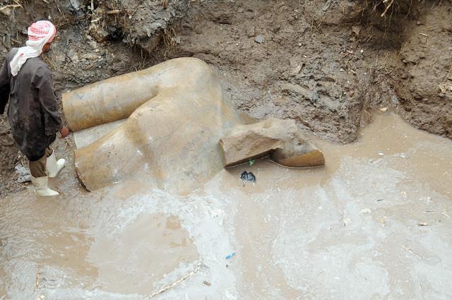 Ramses II statue at Heliopolis
