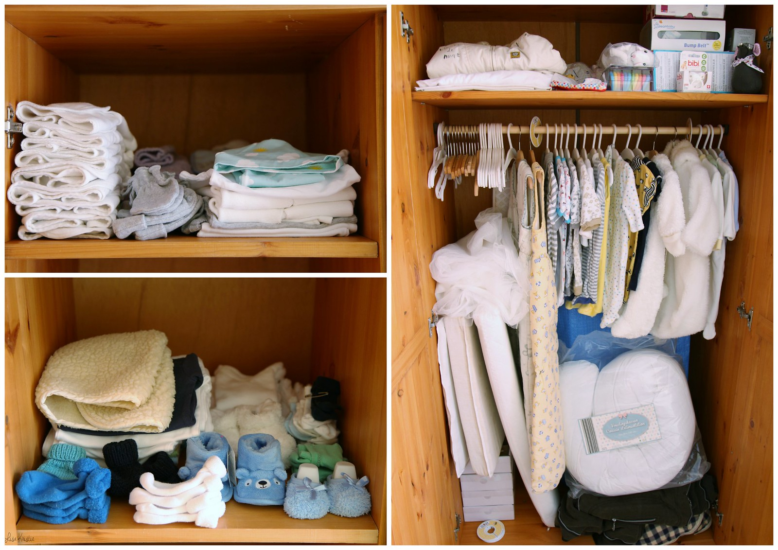 baby closet wardrobe clothes onesies socks shoes sleepers stuff shelf hanger