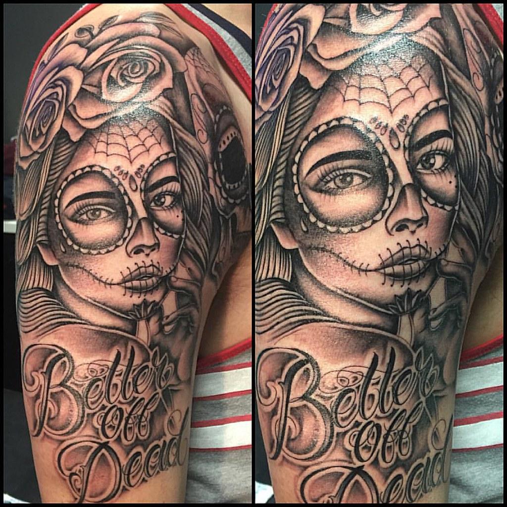 Better Off Dead Start Of A Sleeve Tattoo Tattoos Tha Flickr