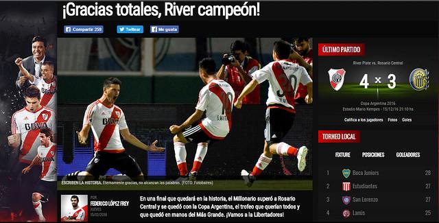 River Campeón de la Copa Argentina