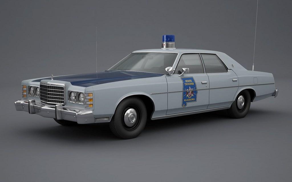 1977 Ford LTD Alabama State Trooper | Roof hardware: Federal… | Flickr