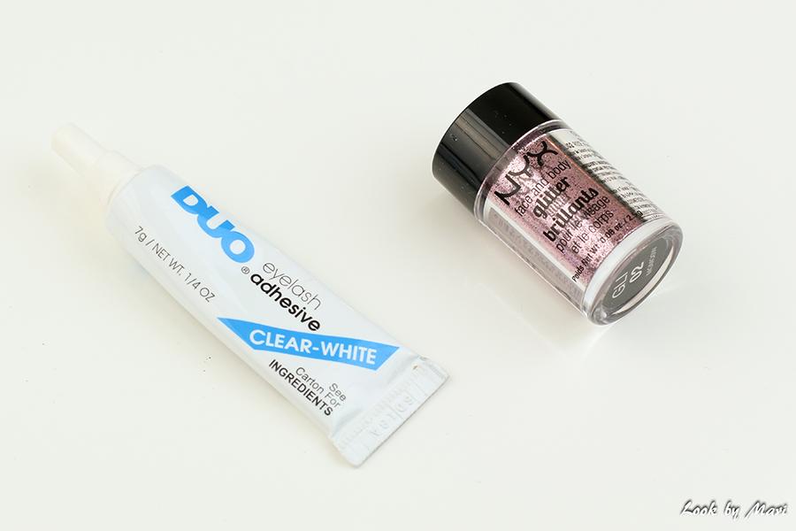 14 Duo clear eyelash glue review duo kirkas ripsiliima kokemuksia nyx face- and body glitter 02 kokemuksia review