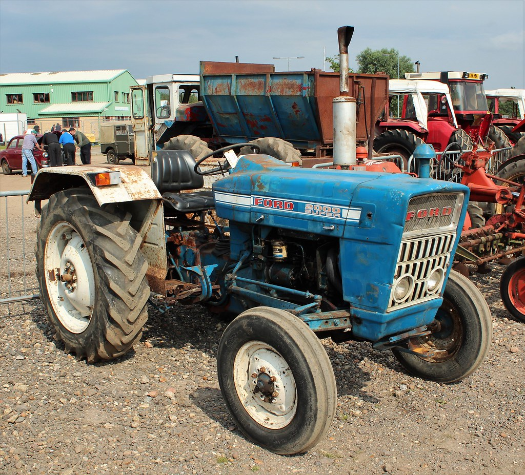 Old gold ford 2000 super tractor by nivek old gold