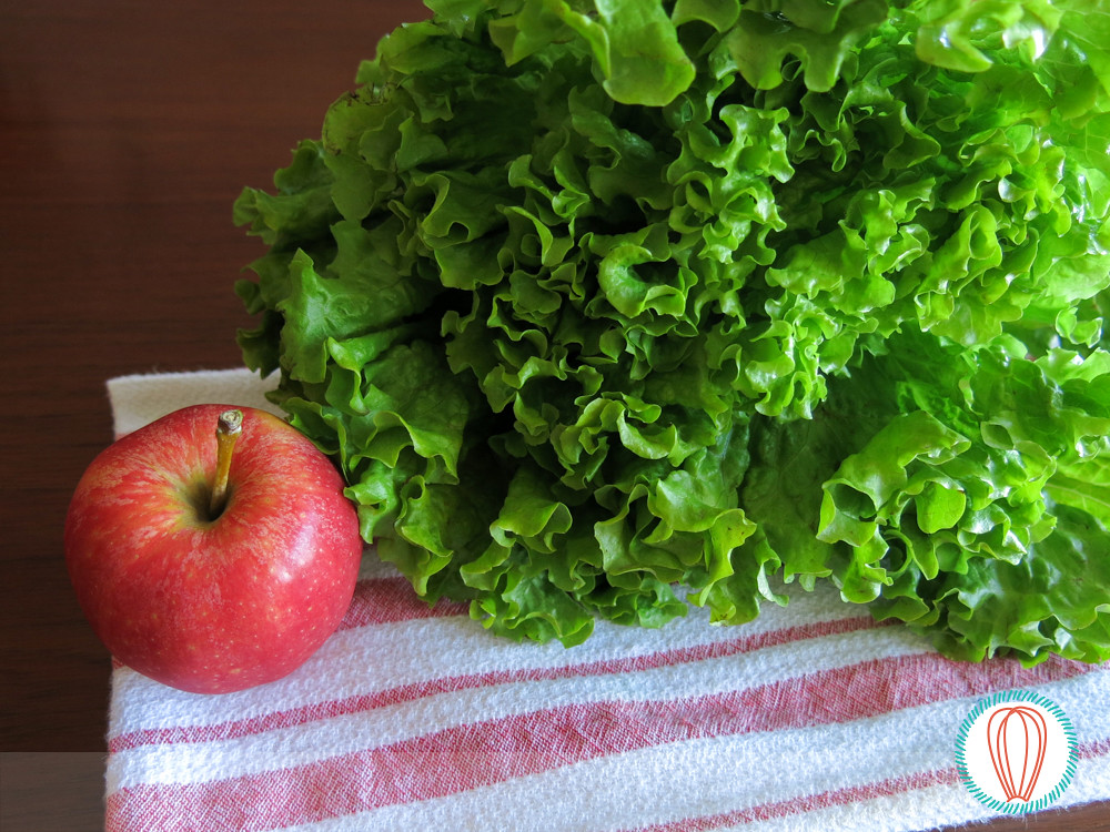Warm Escarole-Apple Salad & Pork Chops