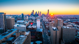 Philly Center City Sunrise from 3737 Roof | by 5th_Gr4d3r