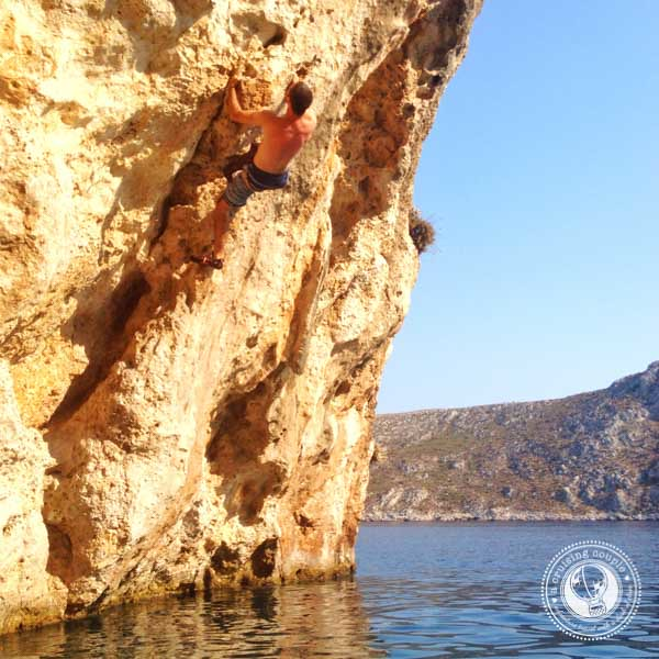 Deep Water Solo in Kalymnos, Greece