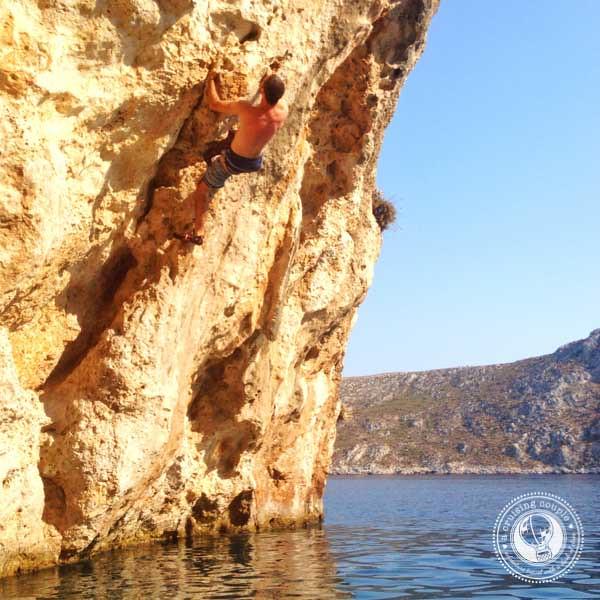 Deep Water Solo in Kalymnos, Greece
