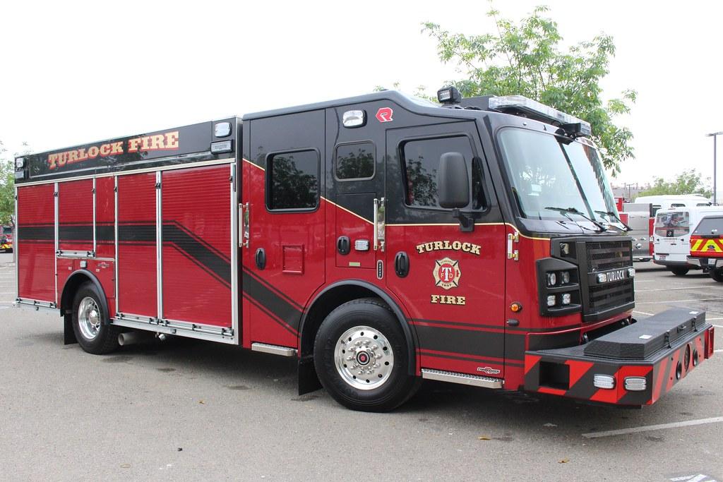 Turlock Fire Dept Rosenbauer Rescue Truck For Turlock