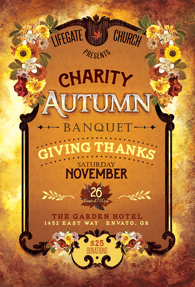 charity autumn banquet flyer this charity autumn banquet t flickr