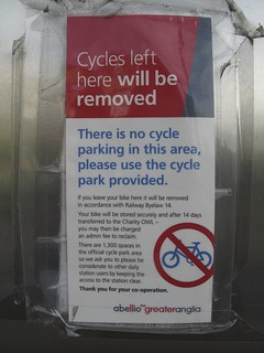 Cycles left here will be removed | by Carol Green