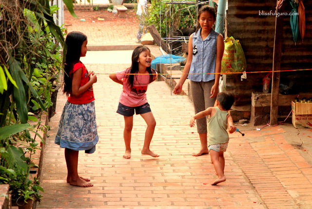Kids Playing Luang Prabang Laos