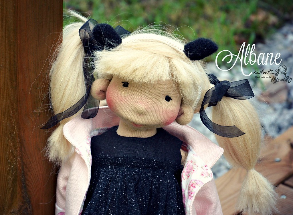 Albane, a Natural Fiber Art Doll by LesPouPZ