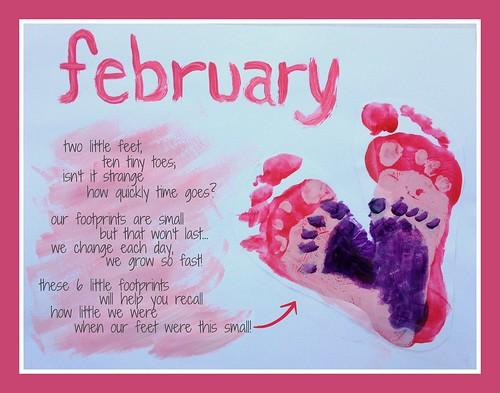 Infant Calendar Ideas : Our handprint and footprint calendar andrea dekker