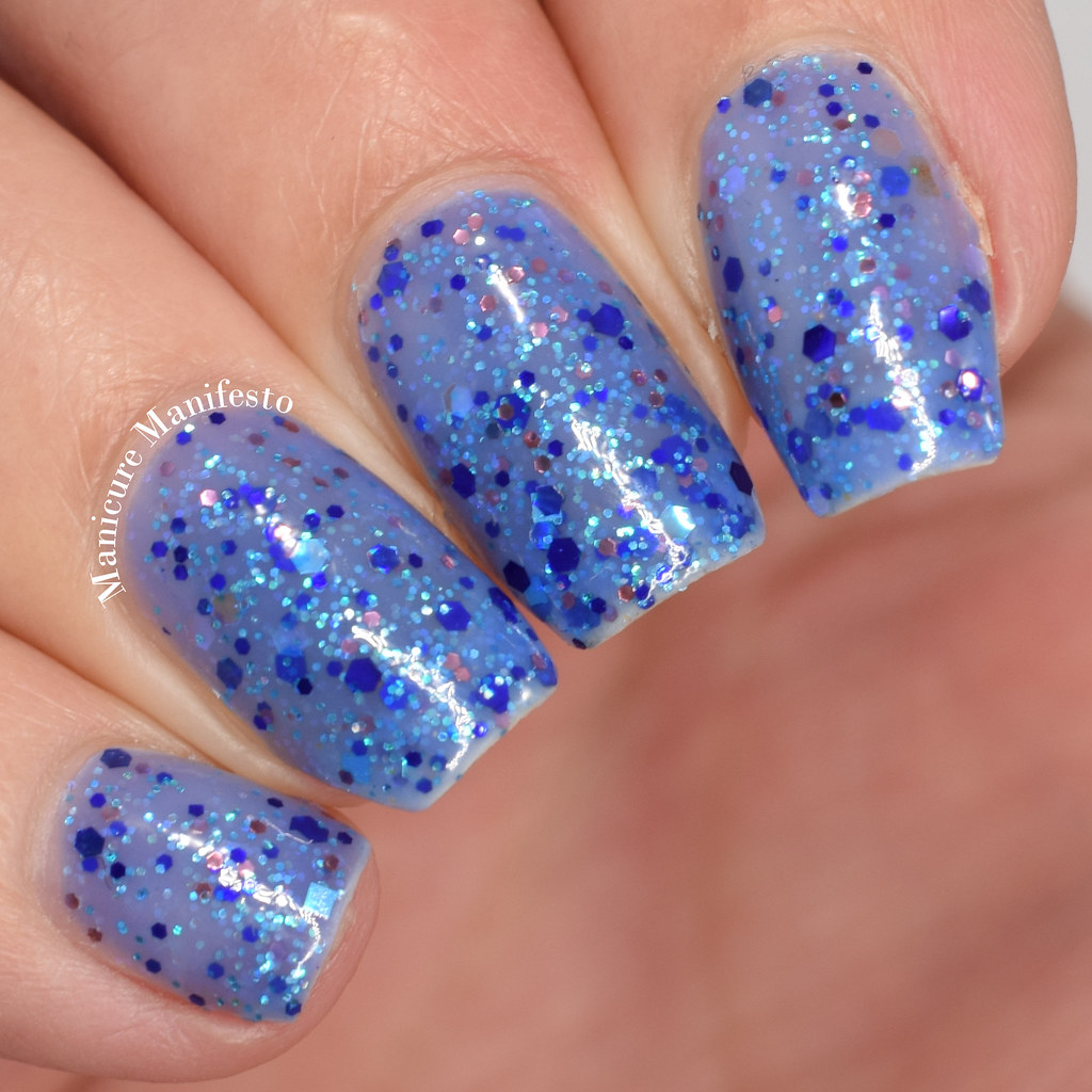 Blue-Eyed Girl Lacquer Snowfall At Dusk Swatch