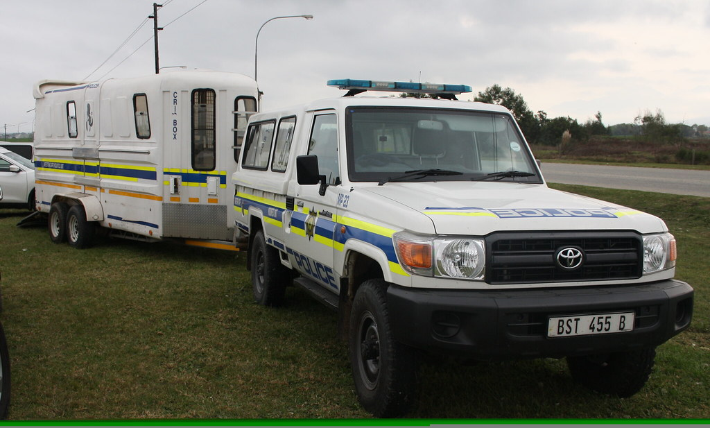 South African Police Mounted Unit Toyota Landcruiser With