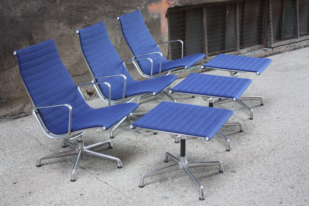 ... Optimistic Charles And Ray Eames Aluminum Group Lounge Chair And  Ottoman For Herman Miller (U.S.A.
