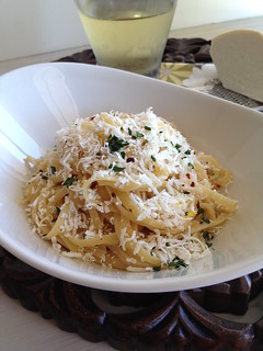 Browned Butter Linguine with Mizithra | by The Culinary Chronicles
