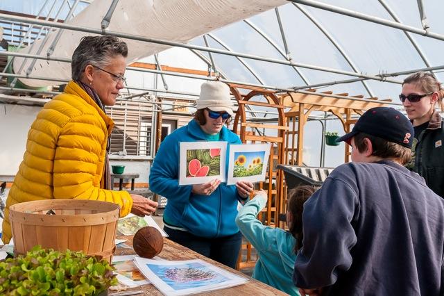 image of volunteers teaching kids