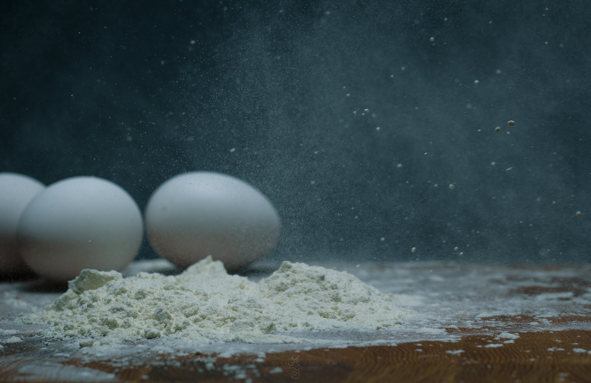 Flours and eggs