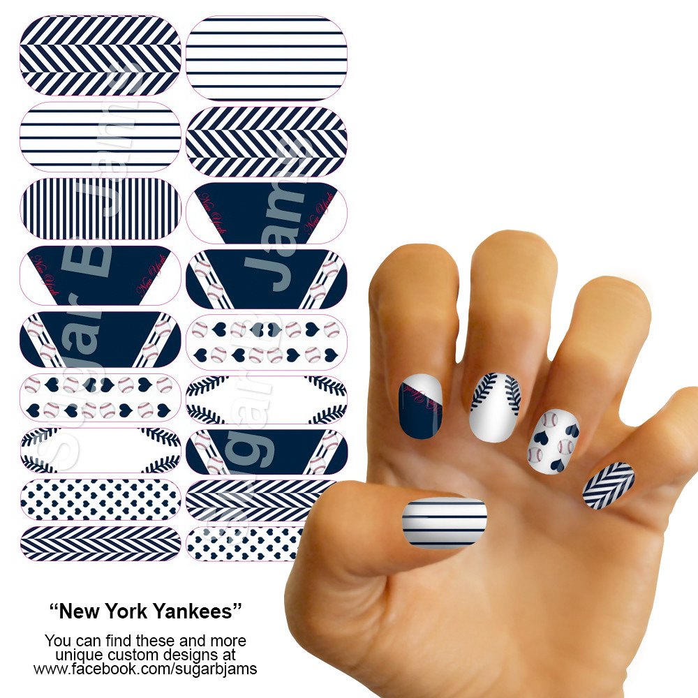 New York Yankees Inspired Jamberry Nail Wraps | My personal … | Flickr