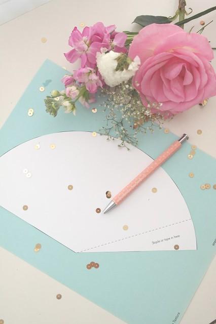 шаблон цветочек из картона
