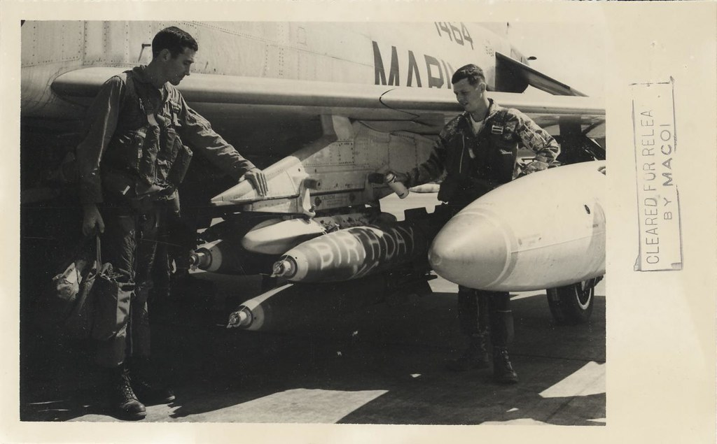 Marines paint birthday greetings on bombs 1967 happy bir flickr marines paint birthday greetings on bombs 1967 by archives branch usmc history division m4hsunfo