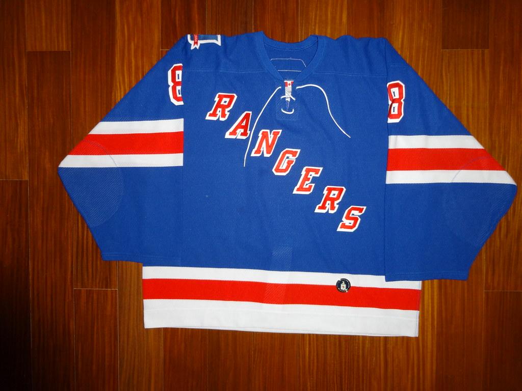 free shipping 61189 6efb9 Game Worn Reebok Edge 6100 Marek Malik New York Rangers 20 ...