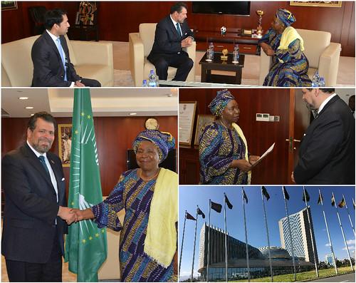 El Embajador de México, Víctor Manuel Treviño Escudero, presenta cartas de acreditación ante la Unión Africana