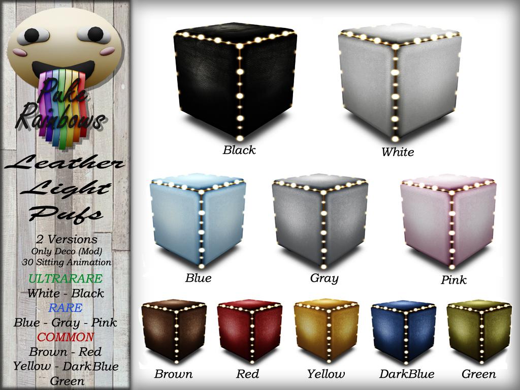 [PR] Leather Light Pufs - Gacha PIC