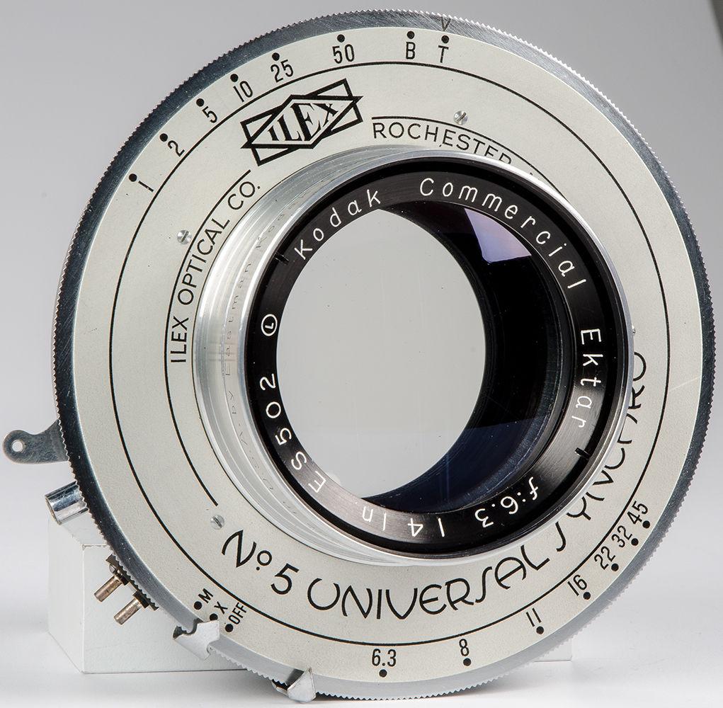 Kodak Commercial Ektar ILEX 14 inch Lens f6.3 Universal Synchro Shutter in Original Boxes 2