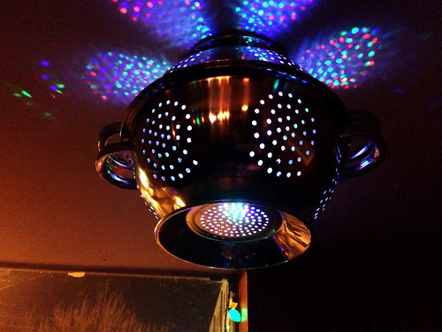 Colander Light Fixtures at Charlie's Cafe (Feb 6 2016)