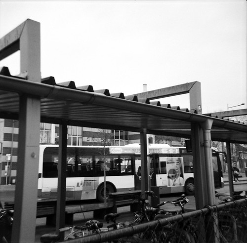 view on the bus stop