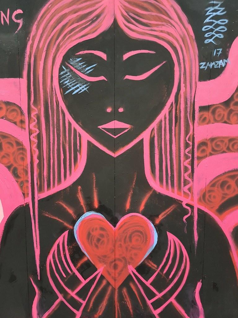 Valentines Day street art, Cardiff