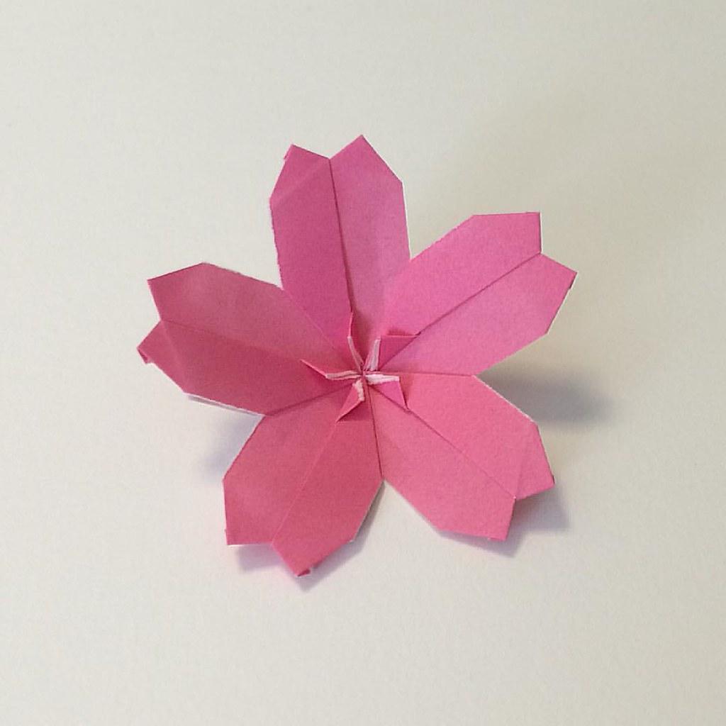Cherry Blossom Ball Kusudama by Tomoko Fuse  Origami