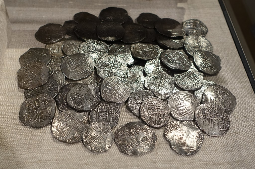 Pieces Of Eight 8 Reales Silver Coins Recovered From The Sunken Spanish Galleon