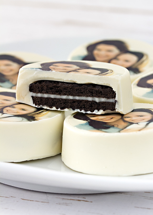 Oreos con chocolate blanco