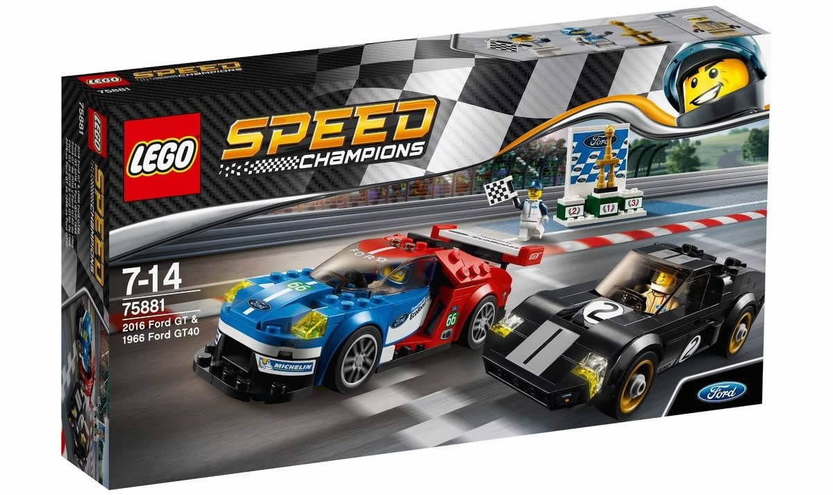 LEGO Speed Champions 75881 - Ford GT 2016 & Ford 1966 GT40