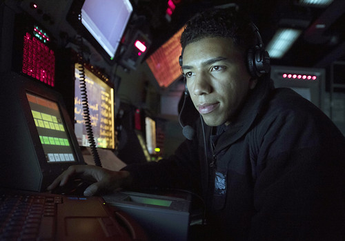 Sailor uses a radar tracking system to track surface contacts.
