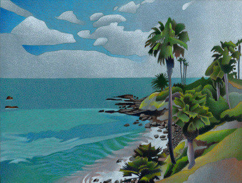 Laguna Beach. Artist Dan Miller